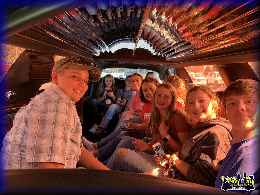 kids in limo